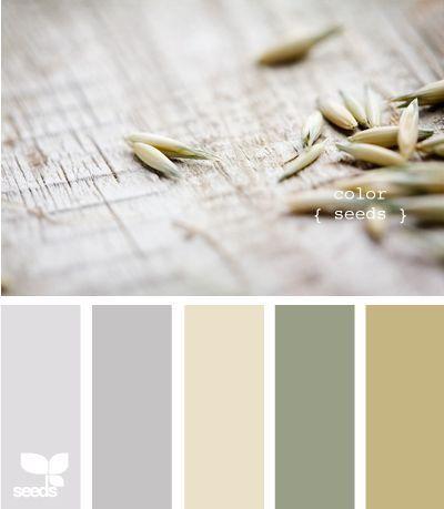 Kleurenpalet met olijfgroen. Maison Belle.