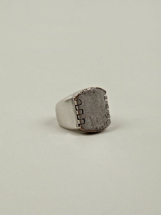 Maison Martin Margiela 11 Men's Brass and Leather Signet Ring