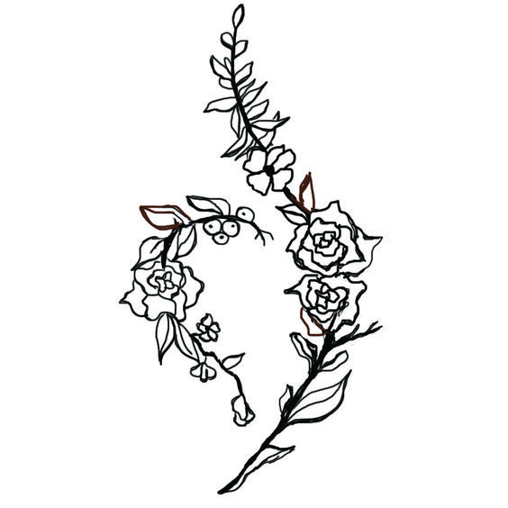 National Eating disorder Recovery Tattoo Design: