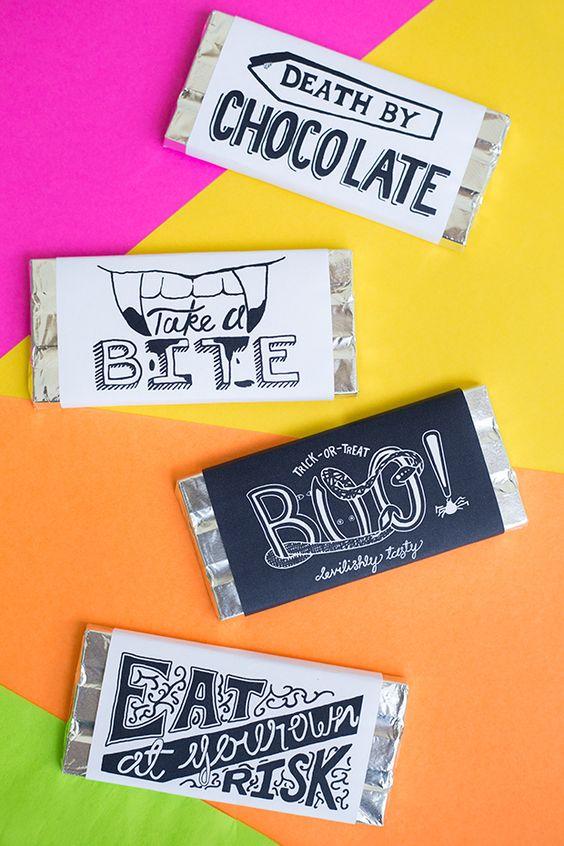 ハロウィーンのための無料印刷チョコレートバーのラッパー