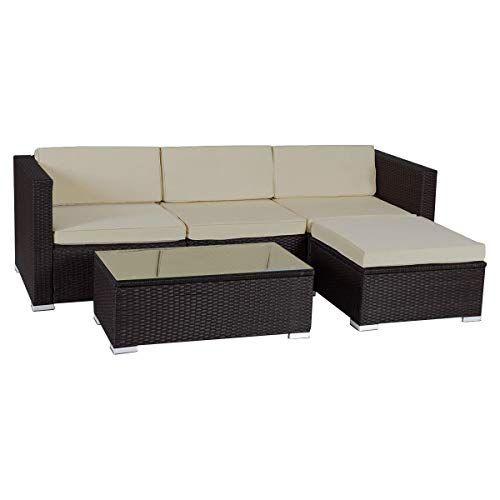 Check This Enjoyshop 5 Pcs Patio Garden Rattan Furniture Set With Cus Patio Furniture In 2020 Rattan Furniture Set Outdoor Patio Furniture Sets Patio Furniture Sets