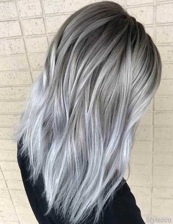 11++ Medium silver ombre hair inspirations