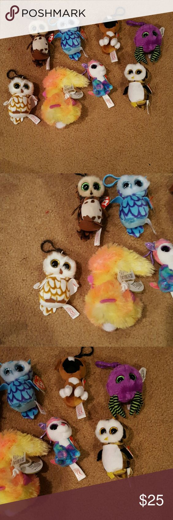 Beanie babies key chains Cute and adorable Beanie baby key chains of all different animals. The price is for 4 Beanie babies. Accessories