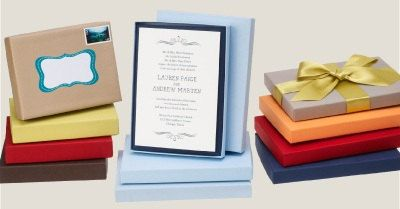 25 Invitation Shipping Box Mailers