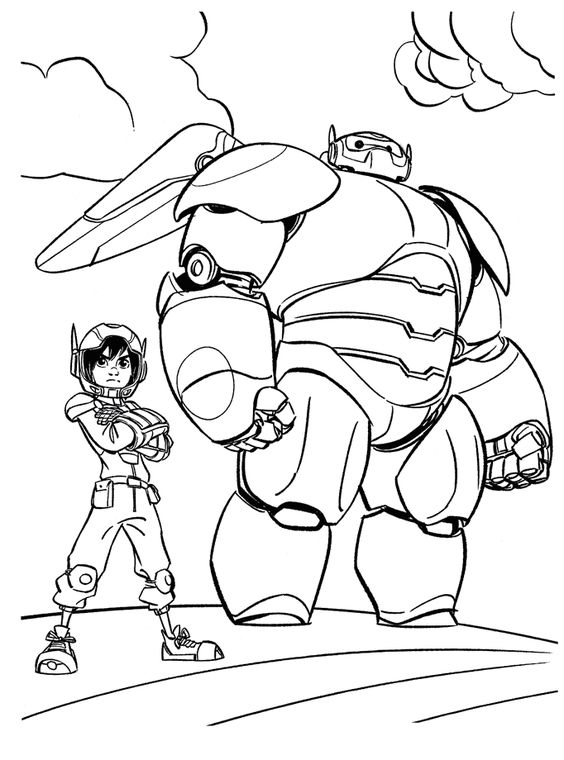 Big Hero 6 Coloring Pages :if your kid is a fan of Baymax, then why don't give…