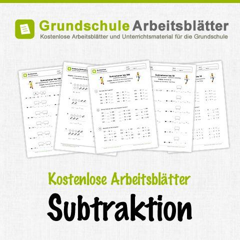 Kostenlose Arbeitsblätter und Unterrichtsmaterial zum Thema Subtraktion im Mathe-Unterricht in der Grundschule.