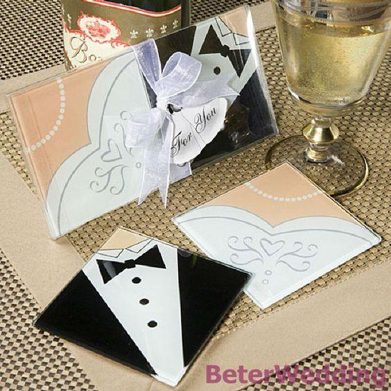 Caboteur en verre 100pcs, utilisation de mariée et de marié de 50set BD031-00 en tant que faveurs de décoration de partie, cadeaux de gifts@Beter