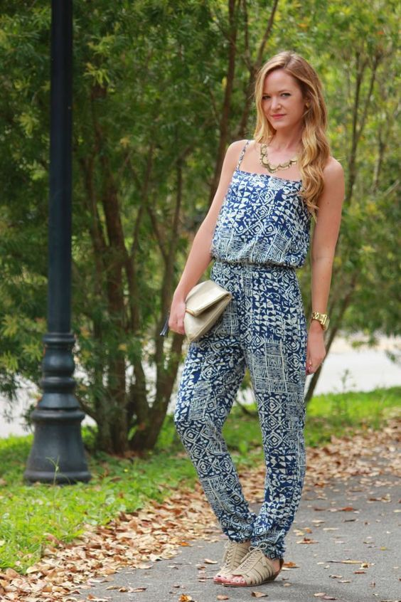 Printed Jumpsuit, Spring outfit