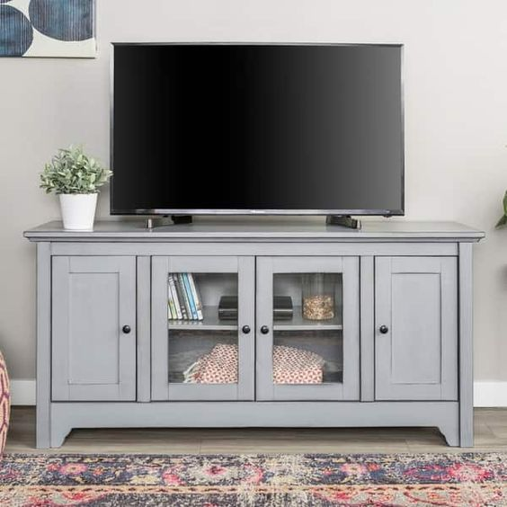 Shop The Gray Barn Estelle 52-inch TV Stand Console, Entertainment Center, 4-door Media Storage Console - 53 x 16 x 25h - On Sale - Free Shipping Today - Overstock - 20640431