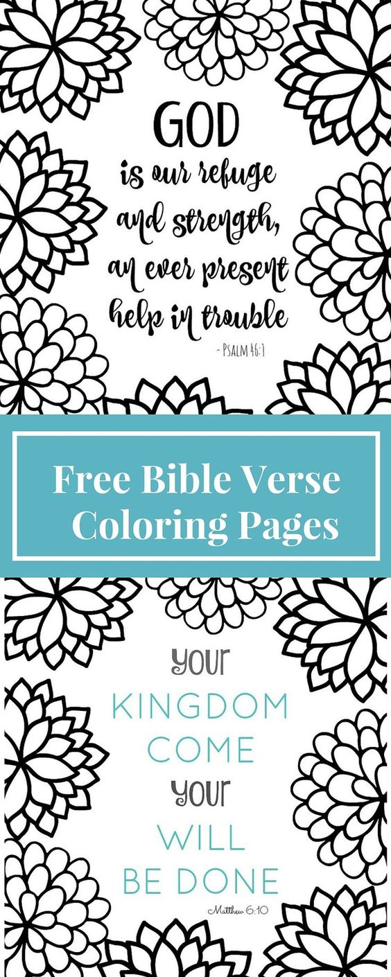 Top 10 Free Printable Bible Verse Coloring Pages Online | Free ...