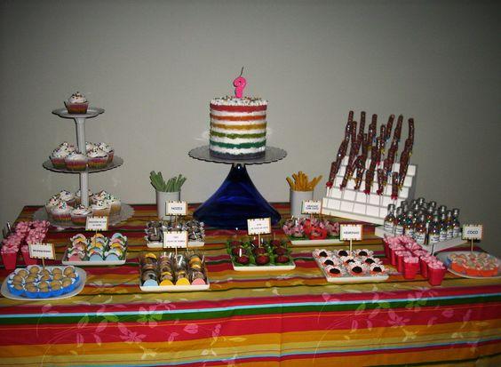 Mesa de doces aniversário Cris
