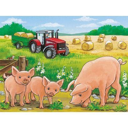 Würfelpuzzles 12 Teile, Tiere auf dem Bauernhof