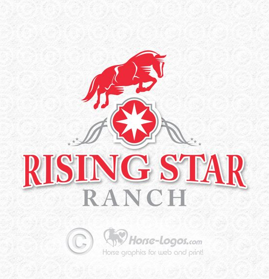 Jll Design What To Do With Your Ranch: Custom Horse Logo Design Created For Raising Star Ranch