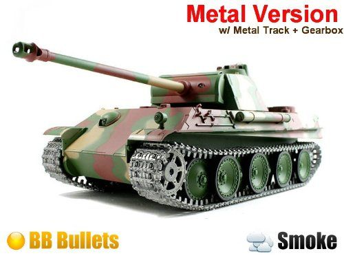 1/16 German Panther Type G Airsoft RC Battle Tank Smoke ...