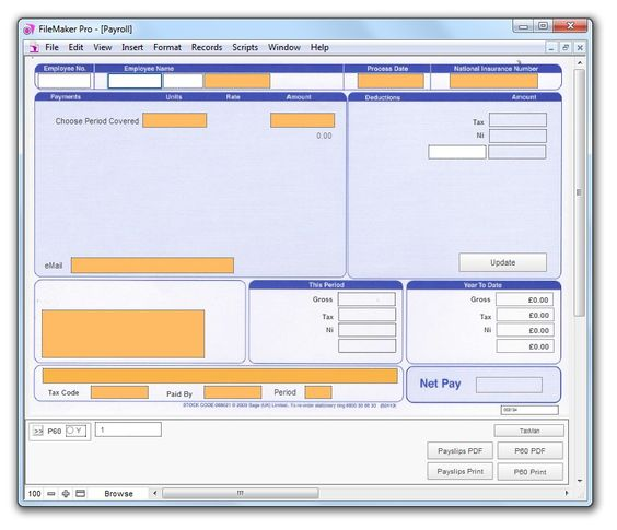 Small Business Payroll Software The Best Contact Management - payslip free download