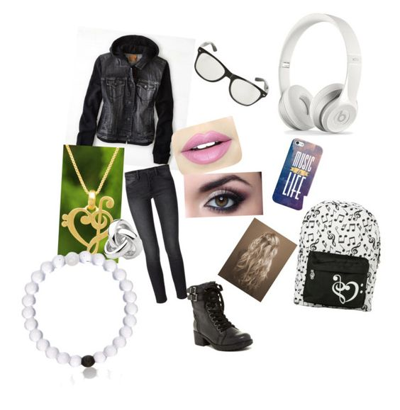 """""""School outfit"""" by juju-under on Polyvore featuring Casetify, American Eagle Outfitters, Frame Denim, NOVICA, Everest, Georgini, MIA and Fiebiger"""