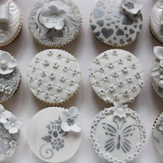 Quilting, stencils, gum pate, and wedding pearls Cupcake Ideas - Now That s Living ...