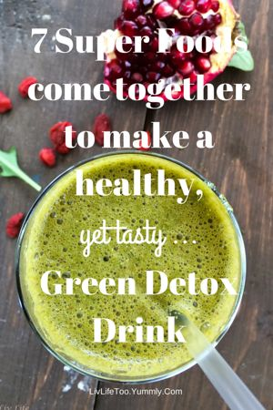 Arugula Apple Detox Drink | Liv Life A green drink that tastes good??  You bet!!   The whole family enjoys this one!! #greendrink #blended @livlifetoo