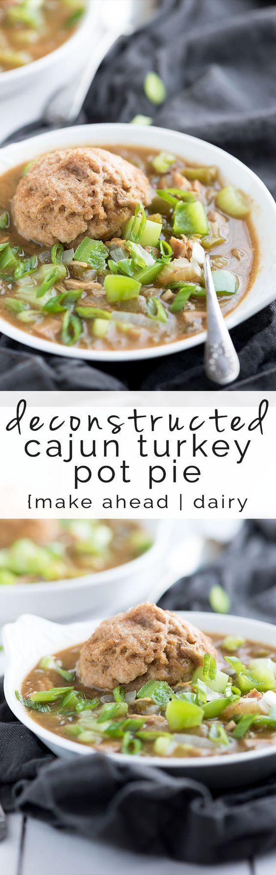 Deconstructed Cajun Turkey Pot Pie | Recipe