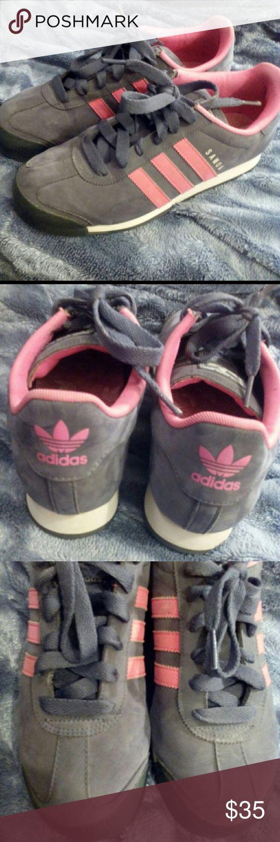 Adidas Samoa Grey/Pink size 7.5 Adidas Samoa Grey/Pink women size 7 1/2. Great condition adidas Shoes