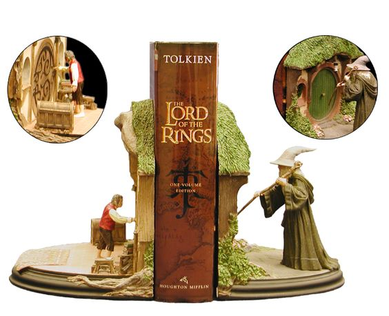 The lord of the rings bookends j r r tolkien pinterest la route the doors et le - Lord of the rings book ends ...