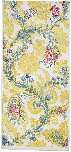 Design for Spitalfields silk by Anna Maria Garthwaite, 1729.