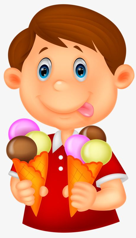 Nino Comiendo Helado Clip Art Ice Cream Art Kids Clipart