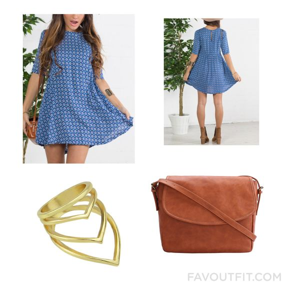 Closet Ensemble Including Dress Floral Dress Shoulder Bag And Yellow Gold Ring From August 2015 #outfit #look