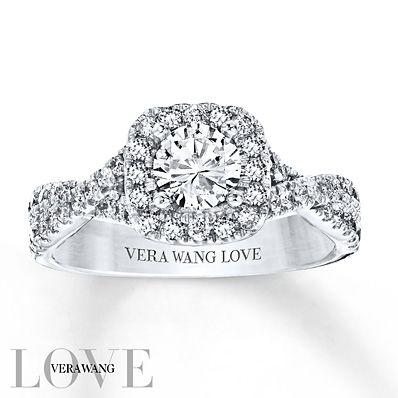 Vera Wang LOVE 1 Carat tw Diamonds 14K White Gold Ring