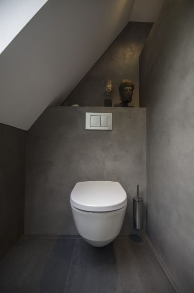 Beton cire toilet d co pinterest toilettes - Deco voor toilet ...