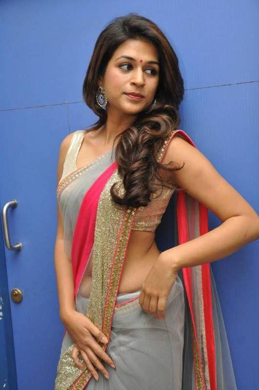 Buy Shraddha Das Grey Saree Online