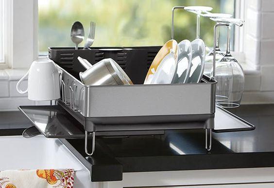 35 Minimalist Kitchen Products That Ll Soothe Your Soul Dish Racks Minimalist Kitchen Simplehuman Dish Rack