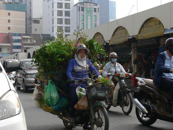 Scène de vie à Ho Chi Minh Ville, Vietnam
