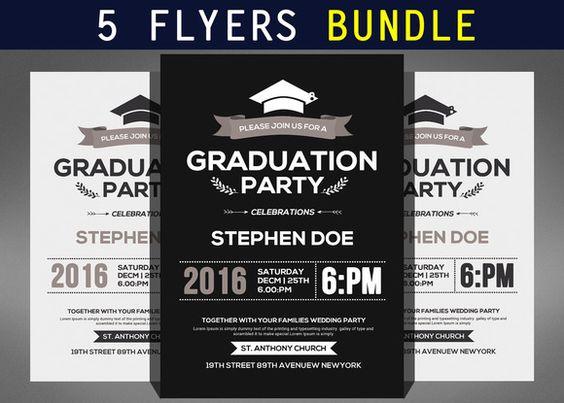 graduation flyers examples