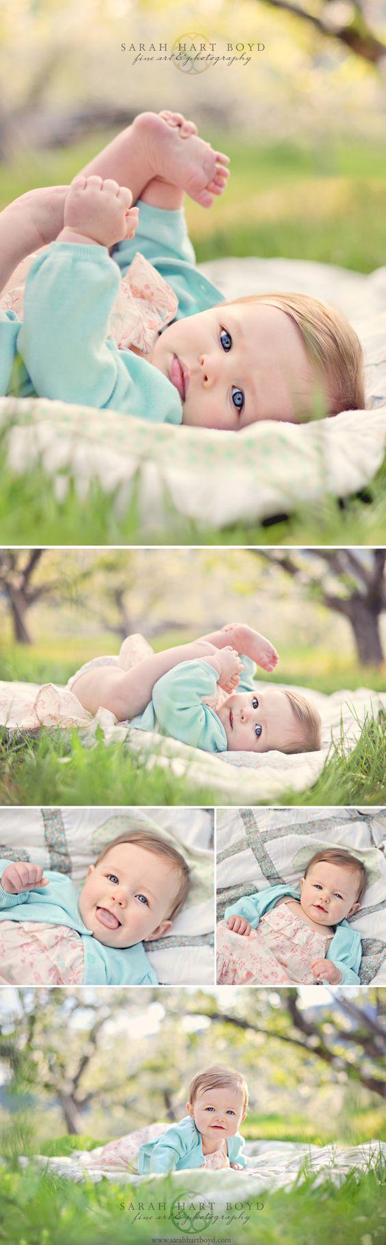 Alexandria ( 7 months ) – Apple Blossom Portraits – Manson, WA » sarahhartboyd.com