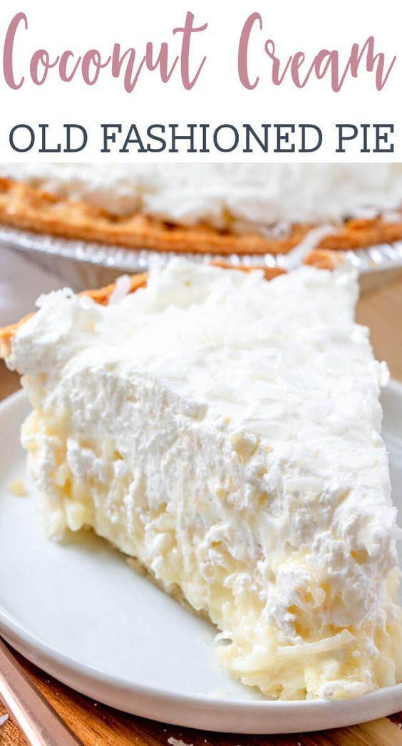 coconut cream pie has a creamy