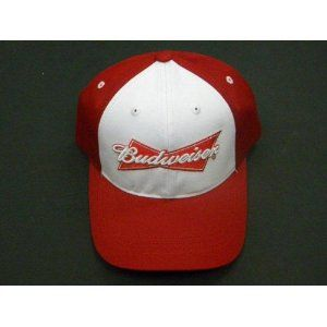 Red and White Budweiser Baseball Cap (Apparel) www.amazon.com/...