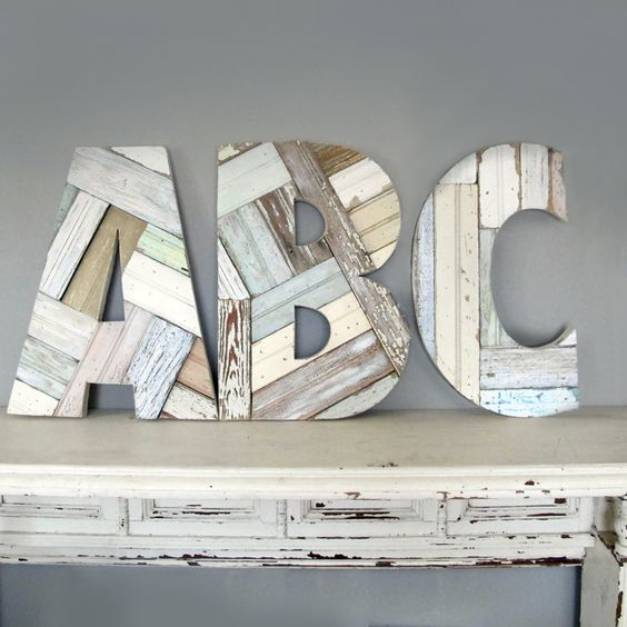 Custom Salvaged Wood Letters, $98 each