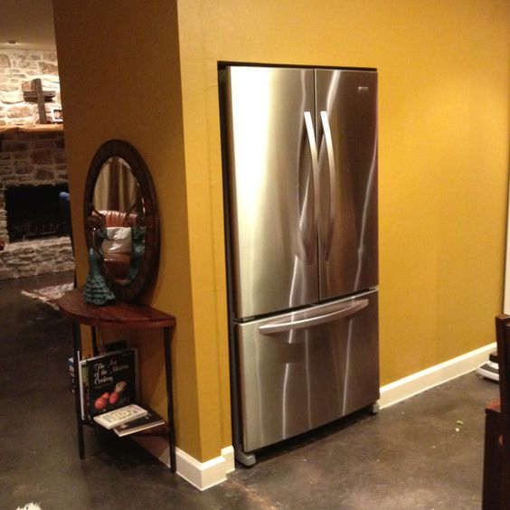 Marvelous Refrigerator Under Stairs Utilize Space Under Stairs Kitchen Largest Home Design Picture Inspirations Pitcheantrous