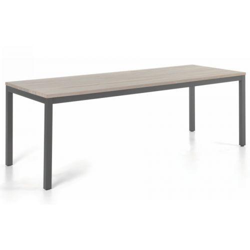 Table De Jardin En Teck Massif Gris En 2020 Table Teck Teck Mobilier De Salon