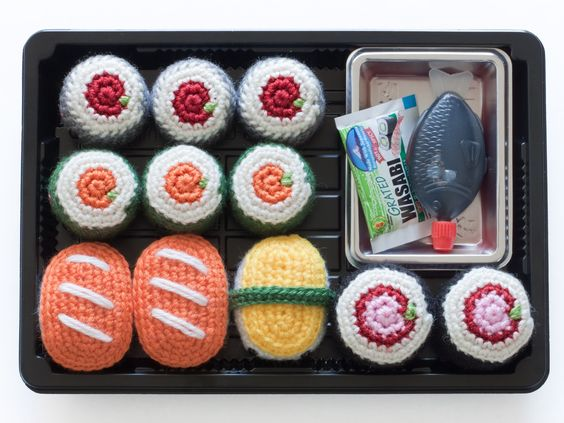 Amigurumi Sushi Free Pattern : Toys, Sushi and Patterns on Pinterest