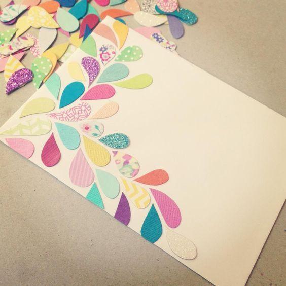 Ideas Para Decorar Y Personalizar Sobres Carpetas Decoradas Tarjetas Artesanales Sobres Decorados