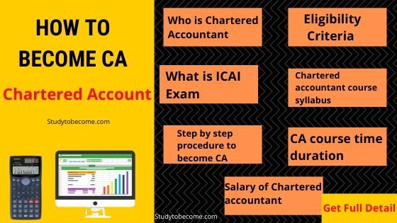 How To Become Chartered Accountant Ca In India Course Syllabus Chartered Accountant Accounting