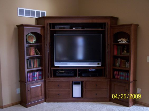 Want a corner cabinet, and a tv to put in it!