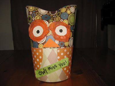 oatmeal container owl