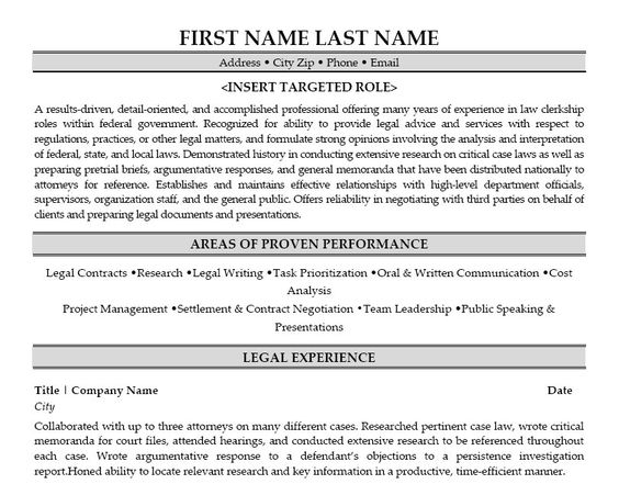 contract attorney sle resume