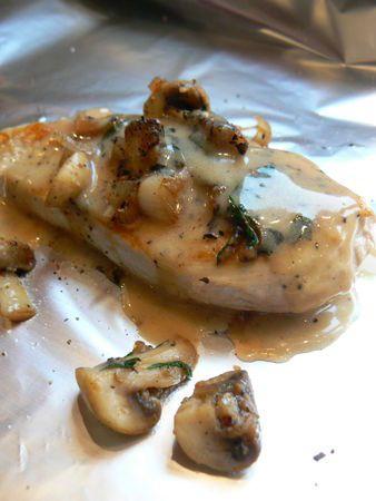 Poulet champignons en papillote Jamie Oliver