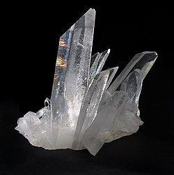 Cristal de quartzo.