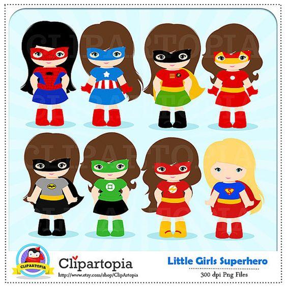 girl superhero clip art little girls superheroes