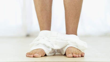 Verliefd: Witte onderbroeken en bleke kippenborsten